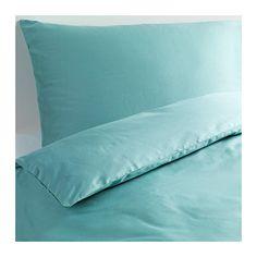 IKEA - GÄSPA, Dekbedovertrek met 2 slopen, 200x200/60x70 cm, , Beddengoed van satijngeweven katoen is erg zacht en biedt een aangenaam slaapcomfort. Door de uitgesproken glans ziet het er prachtig uit op je bed.Het gekamde katoen maakt het beddengoed extra zacht en glad, en dat voelt lekker aan tegen de huid.Door de blinde drukknopen blijft het dekbed op zijn plaats.