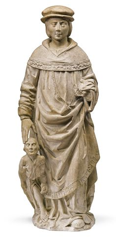 NORTH FRENCH, PROBABLY TROYES, CIRCA 1500 ST. IVO OF KERMARTIN limestone 110cm., 43 3/8 in.