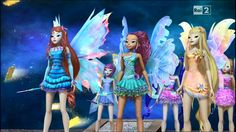 Bloom, Tecna, Aisha (Layla) Musa, Stella and Flora (Mythix Transformations) 3D