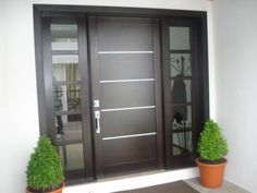 17 designs of main doors. Modern Entrance Door, Modern Exterior Doors, Modern Front Door, Entrance Doors, Home Interior, Interior And Exterior, Main Door Design, House Doors, Unique Doors