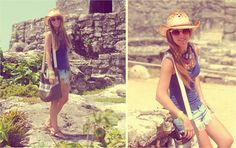 Tourist' outfit for Tulum trip (Cancun) (by Mónica Sors) http://lookbook.nu/look/3623513-Tourist-outfit-for-Tulum-trip-Cancun