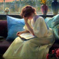 Leitora pensativa