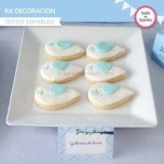 Pajarito bebé Baby Shower, Cupcakes, Cupcake Toppers, Vanilla Cake, Cookies, Desserts, Food, Party Ideas, Lemon Cookies