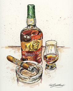 Making Whiskey, How To Make Whiskey, Good Whiskey, Cigars And Whiskey, Buffalo Trace, Cigar Art, Warehouses, Bourbon Whiskey, Mural Painting