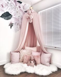Currently having some mommy + Emmalyn time before heading out to my appointments for the day. Love our story time/cuddle sessions in this… bedroom 23 Sweet Baby Girl Room Ideas which Will make baby sleeping comfortable Girl Bedroom Designs, Design Bedroom, Girls Room Design, Baby Bedroom, Girls Bedroom Canopy, Girl Toddler Bedroom, Kids Bedroom Ideas For Girls Toddler, Girl Kids Room, Home Decor Ideas