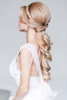 Art4studio long braided wedding hairstyle #weddings #hairstyles #bride #fashion ❤️http://www.deerpearlflowers.com/art4studio-wedding-hairstyles/ #weddinghairstyles