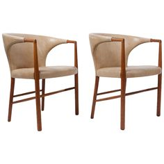Pair of UN Armchairs by Jacob Kjaer ca.1954 | From a unique collection of antique and modern armchairs at https://www.1stdibs.com/furniture/seating/armchairs/