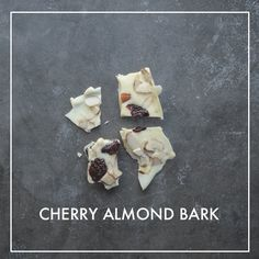 If you have extra melted chocolate to use up, make some instant bark! This Cherry Almond Bark concoction came out of my kitchen this week. Cookie Desserts, Easy Desserts, Cookie Recipes, Delicious Desserts, Dessert Recipes, White Chocolate Bark, Death By Chocolate, Melted Chocolate, Almond Bark