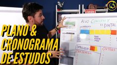 CRONOGRAMA de ESTUDOS: como usar um Quadro de Estudos p/ montar seu Plan...