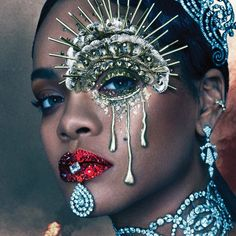 Rihanna Graces The Cover Of 'W' Magazine. Rihanna slays again with her latest W Magazine cover. Donning some highly sought after Cartier bling — and some Rihanna E, Rihanna Cover, Rihanna Crown, Rihanna Nails, Rihanna Baby, Rihanna Music, Rihanna Style, Makeup Inspo, Makeup Inspiration