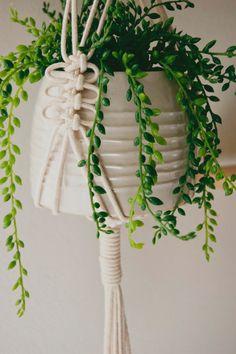 Macrame Plant Hanger 100% cotton cord by CottonandCopperGoods Mais