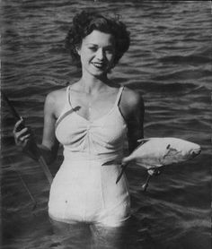 Definitely the catch of the day! :) #vintage #fashion #1930s #fishing #fish #beach #summer