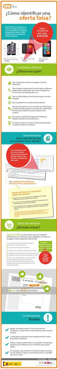 Oficina de Seguridad del Internauta, como identificar falsas ofertas en Internet