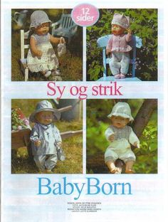 Baby Born Magazine -Doll Clothes -Knitting and Sewing Baby Born Clothes, Preemie Clothes, Knitting Dolls Clothes, Doll Clothes Patterns, Doll Patterns, Girl Dolls, Baby Dolls, Bitty Baby, Pattern Books