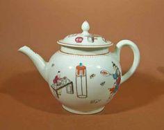 Apilco France Porcelain Teapot For William Sonoma Grande Cuisine