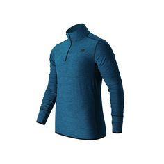 Men's New Balance Space-Dyed Quarter-Zip Pullover, Size: Medium, Blue Other
