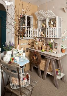 Love this beautiful garden-inspired spread from Gisela Graham!I like the saw horse table idea