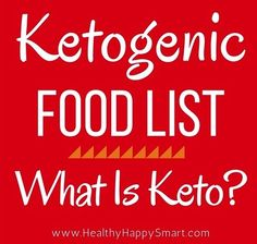 Ketogenic Food List • What is Keto Diet