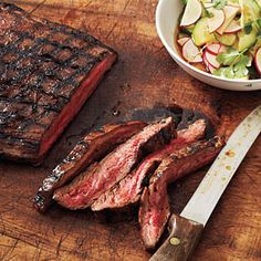 Hoisin-Glazed Steak with Sesame Vegetables | MyRecipes.com
