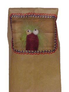 finger puppet paper bag puppet stage