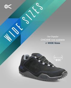 Our Best-Selling Men's and Women's CHICANE Now Available in Wide Sizes! www.kurufootwear.com