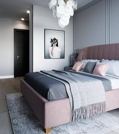 Nightstands, beds, side tables, cabinets or armchairs are some of the luxury bedroom furniture tips that you can find. Every detail matters when we are decorating our master bedroom, right? Luxury Bedroom Furniture, Master Bedroom Interior, Home Bedroom, Modern Bedroom, Bedroom Decor, Luxury Bedding, Furniture Design, Home Room Design, Suites