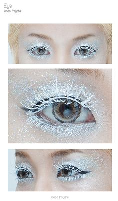 #How to #Makeup Glitter and Ice - The ice queen. I think I may do something like this in #gold for our #Halloween #Masquerade #Party
