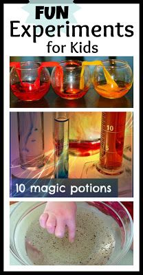 "Science for Kids ...Love the ""10 Magic Potions"" for this time of year!!!"