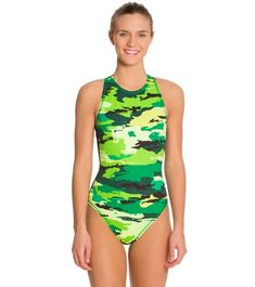 Nike Women s Painted Camo Water Polo High Neck Tank at SwimOutlet.com -  Free Shipping 95ffcffcdce5f