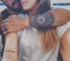Mandala inspired geometric tattoo for men, a signage of eternal love to his loved one