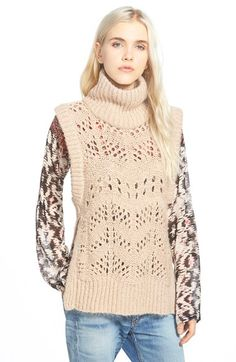 Free shipping and returns on Plenty by Tracy Reese Sleeveless Turtleneck Sweater at Nordstrom.com. Open-stitch details pattern a sleeveless turtleneck sweater knit from supersoft yarn and finished with chunky ribbing at the neckline, arms and hem. Wear it over layers of all kinds for endless versatility all season long.