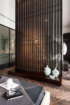 Chinese Style Interior Interiordesign Deco Cecoration Home Asian Japanese Interior, Modern Interior, Interior Architecture, Interior And Exterior, Partition Screen, Partition Design, Divider Design, Room Deviders, Living Room Divider