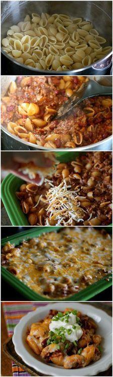 Chili Pasta Bake | foodsweet | foodsweet