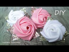 Flor RN encantada - Free Online Videos Best Movies TV shows - Faceclips Diy Lace Ribbon Flowers, Ribbon Flower Tutorial, Ribbon Embroidery Tutorial, Ribbon Art, Silk Ribbon Embroidery, Ribbon Crafts, Fabric Ribbon, Flower Crafts, Ribbon Bows