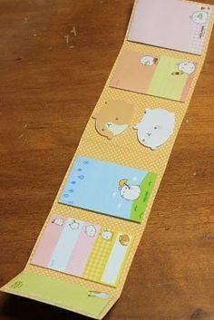 Kawaii Sticky Folding Memo Set - Kapibarasan