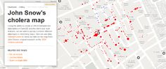 John Snow's famous Cholera Map from 1854, updated to show off CartoDB's cloud based mapping tool.