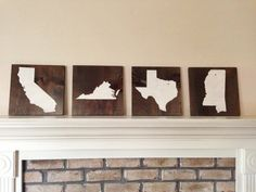 Customizable State Wood Sign, Stained and Hand Painted, Choose Colors, moving gift, wedding gift, birthday, graduation, home decor