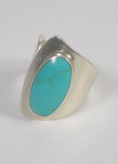 Sterling Turquoise Ring  Mexico Vintage by paleorama on Etsy, $85.00