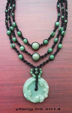 Cooll... Green jade and green aventurine