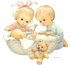 niños y bebé