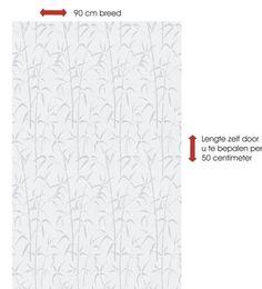 Breed raamfolie - bamboe 90cm | Plakfolie Webshop