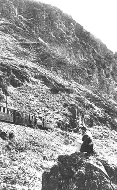 Basil the Pit Pony, helping out a Welsh Pony and coaches in the Aberglaslyn Pass - 1934