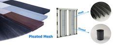 Pleated Mesh for sliding window Sliding Windows, Mesh, Fishnet