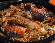 arroz,-lubrigante-gallego-1 Risotto, Pork, Food And Drink, Rice, Meat, Chicken, Ethnic Recipes, Kitchen, The World