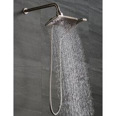 AKDY 1.8 GPM Rain Adjustable Shower Head   Wayfair Led Shower Head, Dual Shower Heads, Spa Shower, Shower Arm, Hand Held Shower, Rain Shower, Dream Shower, Shower Head Reviews, Adjustable Shower Head