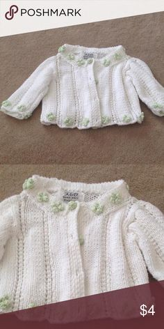 Crocheted sweater Infant crocheted sweater white Shirts & Tops