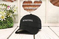 No Bad Days Baseball Hat Low Profile by TheHatConnection on Etsy Custom Hats b57197b49f2b