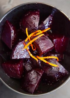 The BEST way to cook beets? These ruby red beets are roasted in the oven until sweet and caramelized, then tossed with orange zest and a balsamic glaze. Vegetarian Side Dishes, Vegetable Side Dishes, Roasted Beets, Roasted Vegetables, Veggies, Beet Recipes, Vegetable Recipes, Tostadas