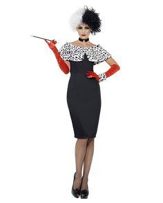 Ladies Evil Madame Fancy Dress Costume Cruella Outfit New by Smiffys , Disney Fancy Dress, Fancy Dress Outfits, Dress Up, Cruella Deville Kostüm, Adult Costumes, Costumes For Women, Villain Costumes, Cartoon Costumes, Costume Ideas