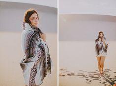 sand dunes portrait navajo blanket